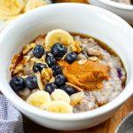 Instant Pot Blueberry Oatmeal Porridge