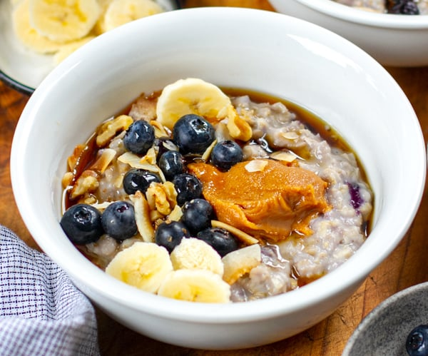 Instant Pot Blueberry Oatmeal Porridge