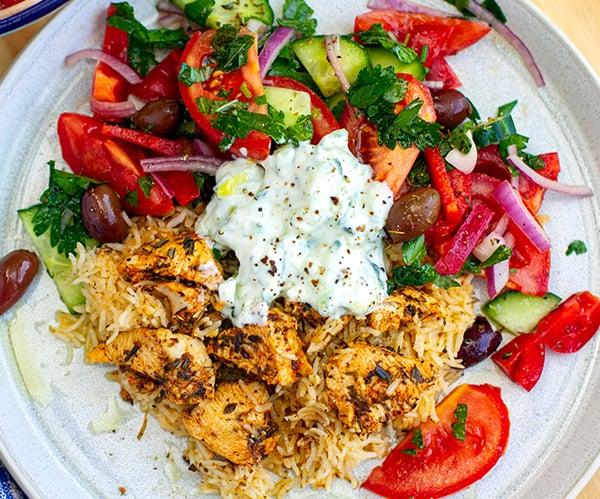 Chicken Souvlaki Rice
