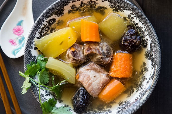 Pressure Cooker Winter Melon Pork Ribs Soup