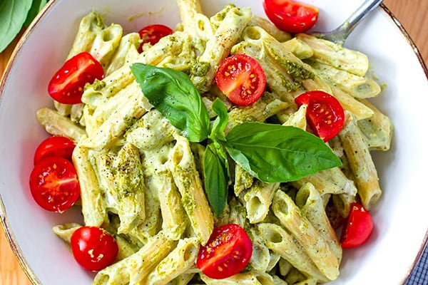Instant Pot Easy Creamy Pesto Pasta