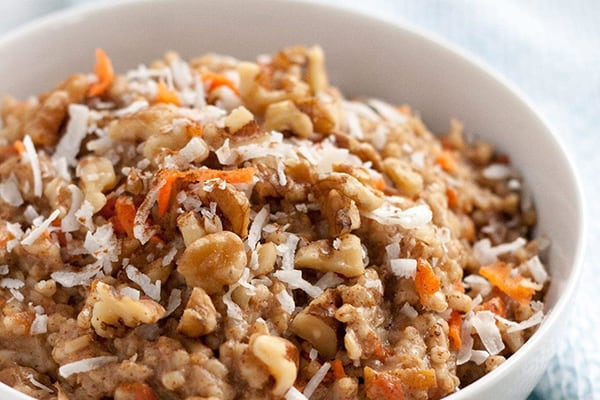 Carrot Cake Oatmeal (Instant Pot and Gluten-free)