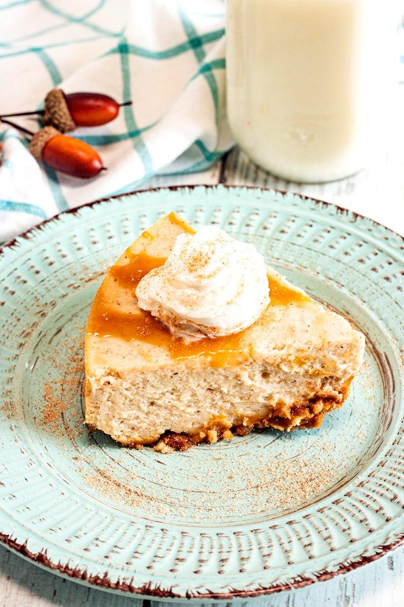 Instant Pot Eggnog & Caramel Cheesecake