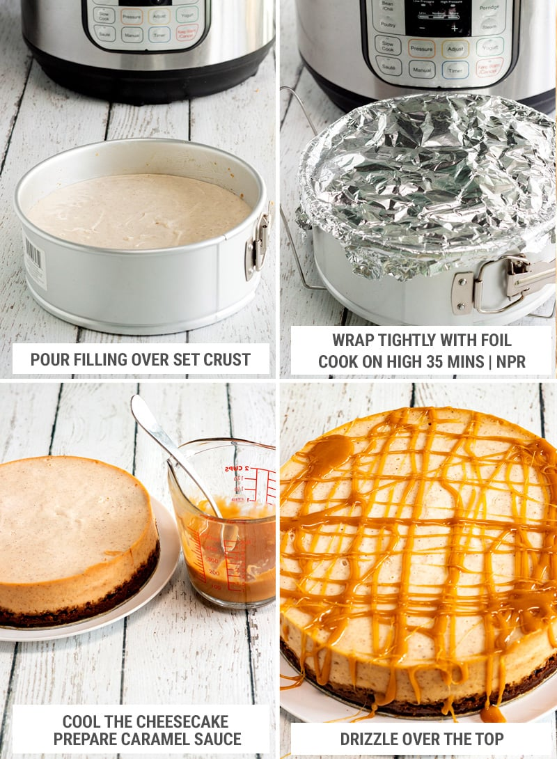 How to make eggnog cheesecake: pressure cooking and decorating