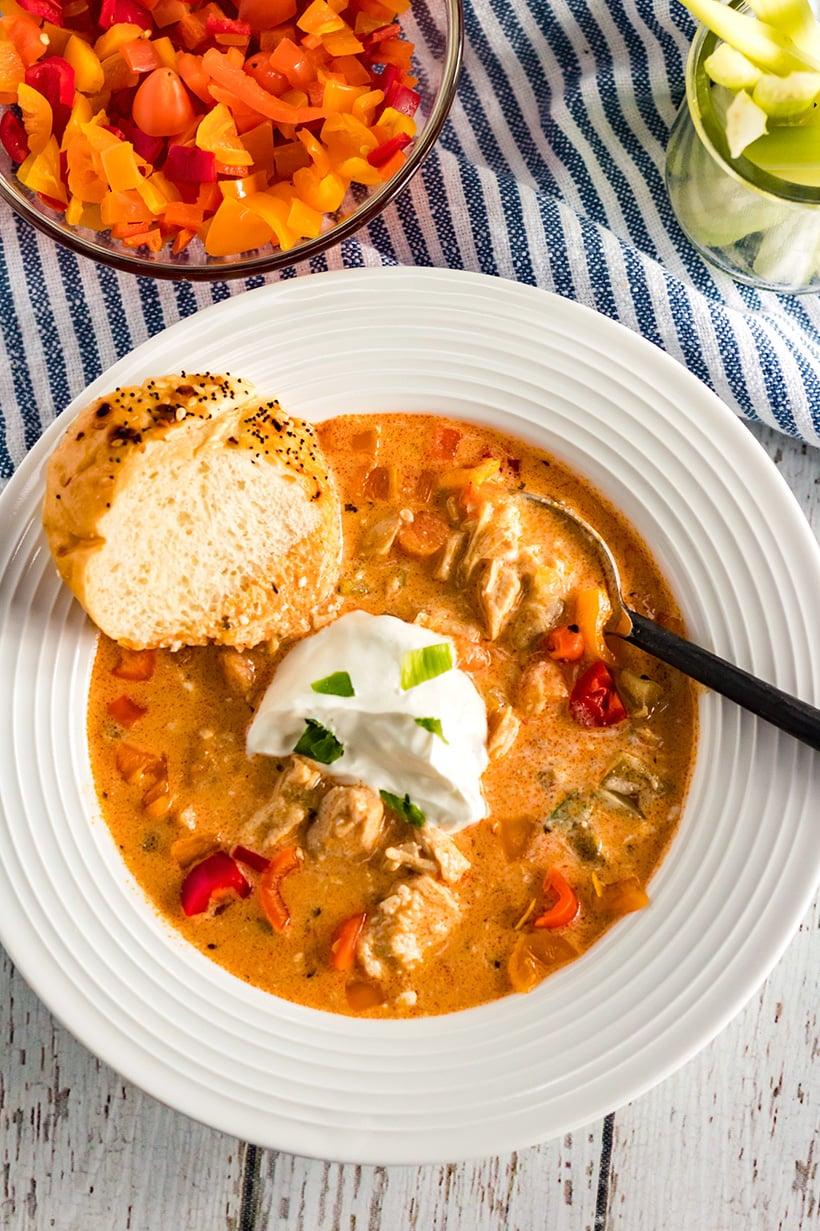 Instant Pot Buffalo Chicken Soup Recipe