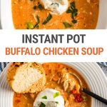 Instant Pot Buffalo Chicken Soup (Step-By-Step)