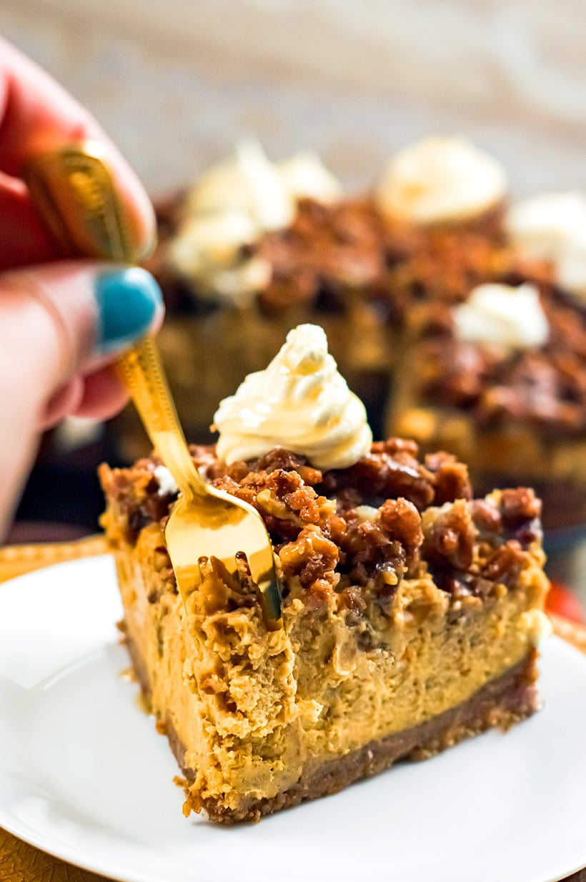 Instant Pot Pumpkin Pecan Cheesecake
