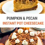 Pumpkin Pecan Cheesecake (Instant Pot Recipe)