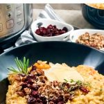 Instant Pot Butternut Squash Risotto With Cranberries & Pecans