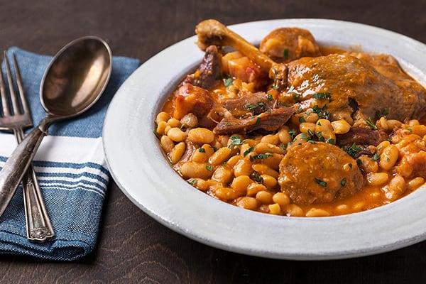 Instant Pot Cassoulet Duck Confit and White Bean Stew