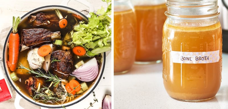 Bone broth use in Instant Pot cooking