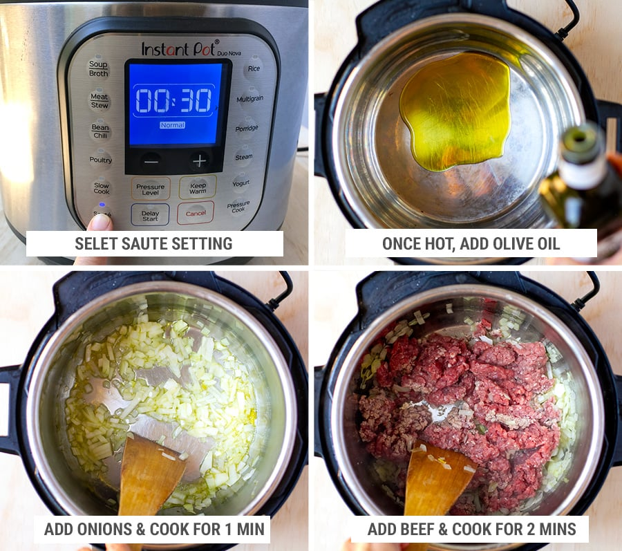 How to make beef rice casserole in instant pot