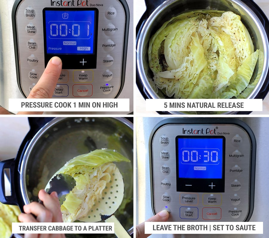 How to cook cabbage in Instant Pot pressure cooker