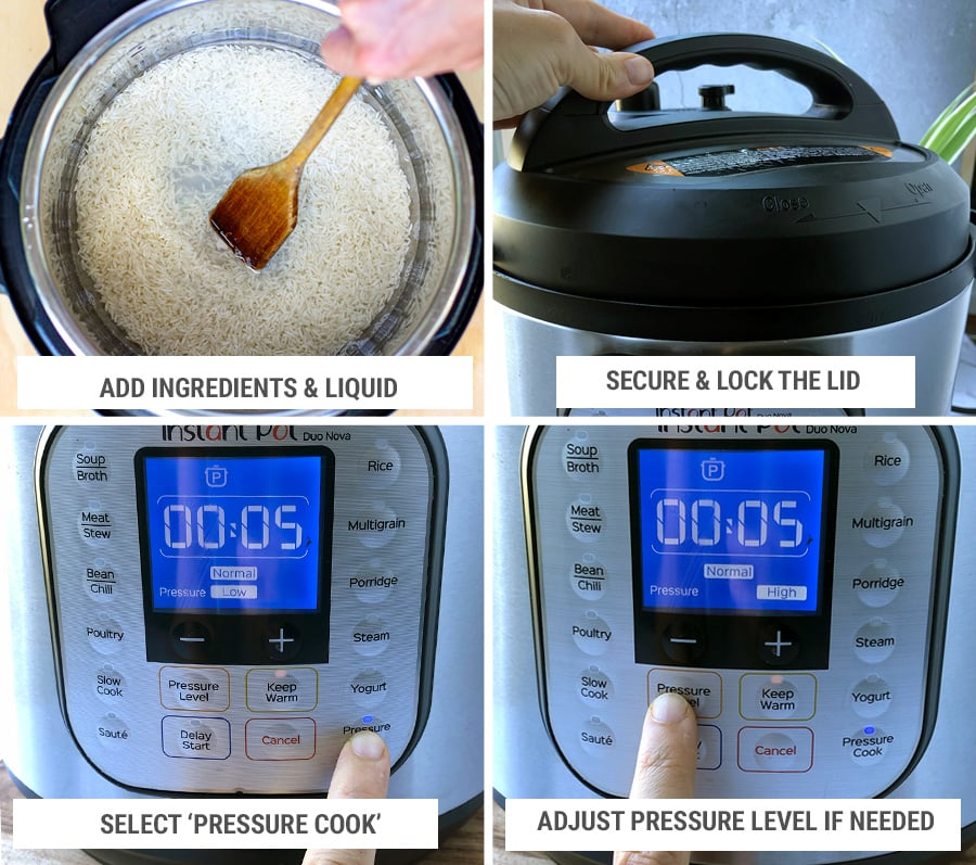 How to use the instant pot step-by-step - manual pressure cooking