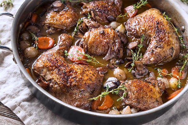 Coq Au Vin: The Classic French Chicken Stew In Instant Pot