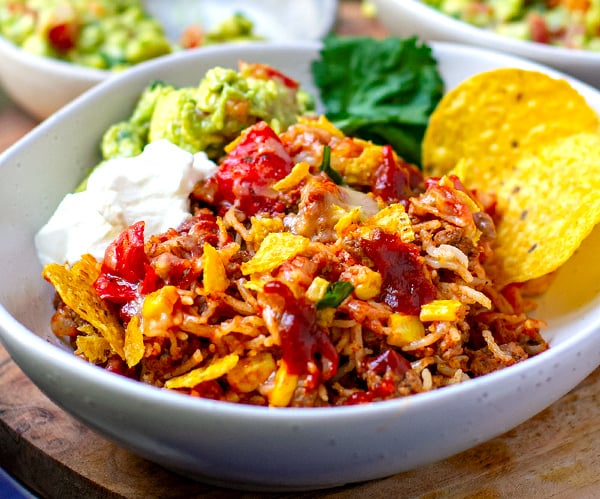 Instant Pot Mexican Beef Rice Casserole (For Nachos Lovers!)