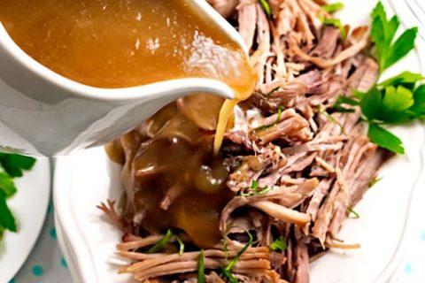Instant Pot Pork Shoulder & Gravy