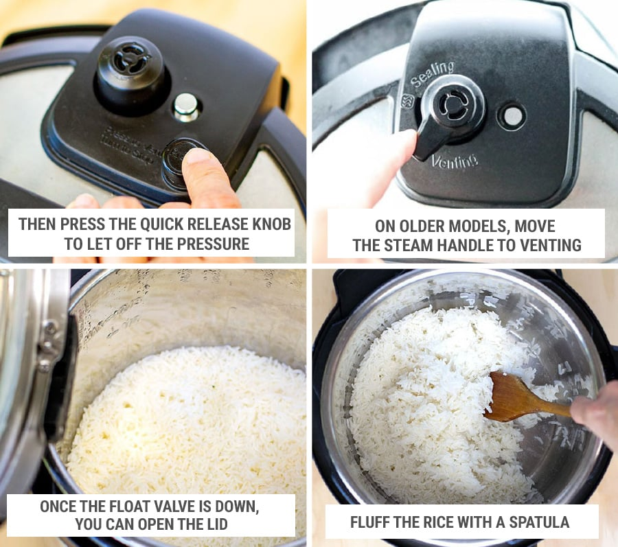 Instant Pot rice recipe step-by-step