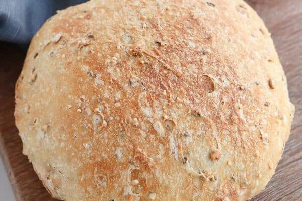 INSTANT POT NO-KNEAD WHOLE WHEAT BREAD