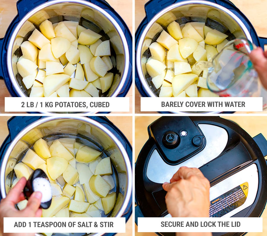 How to make mashed potatoes in the Instant Pot Step 1