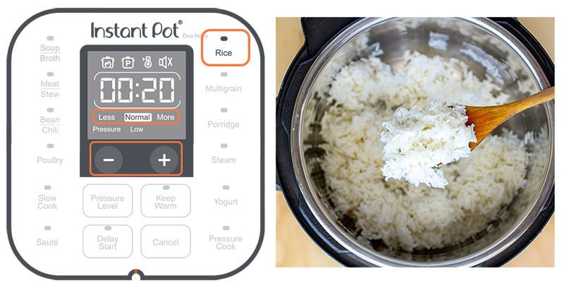 Instant Pot Rice Setting Button Explained
