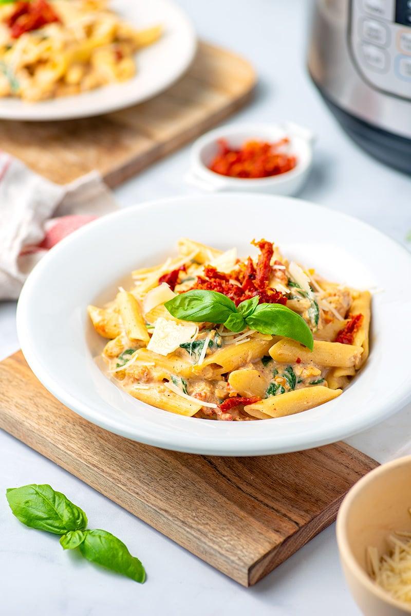Instant Pot Tuscan Chicken Pasta Recipe