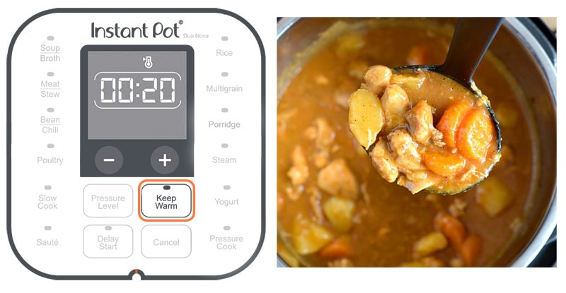 Keep warm setting on Instant Pot
