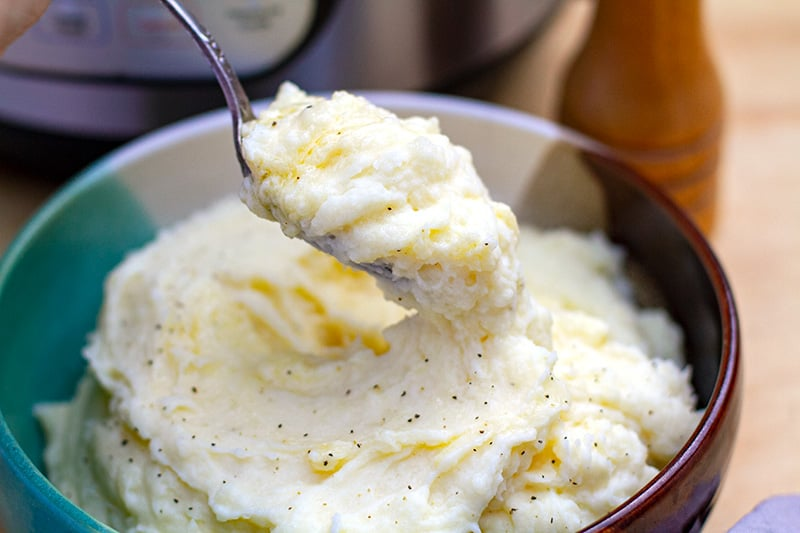 Sour cream mashed potatoes in Instant Pot