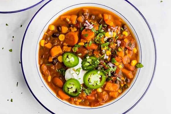 Instant Pot Sweet Potato Black Bean Chili