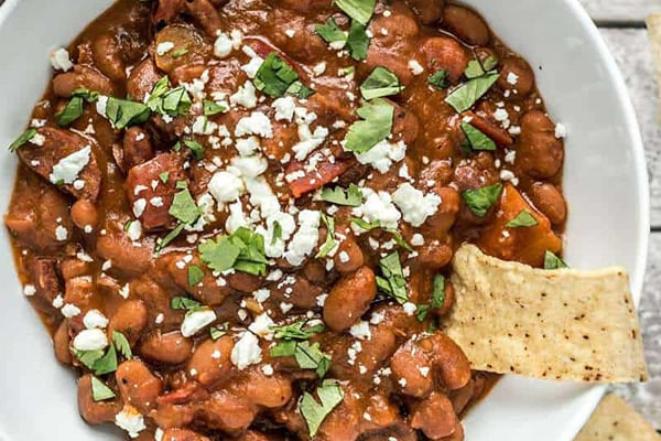 INSTANT POT PINTO BEANS WITH CHORIZO