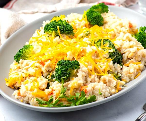 Instant Pot Chicken Broccoli & Rice Casserole