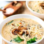 Instant Pot Wild Rice & Mushroom Soup (Step-By-Step)