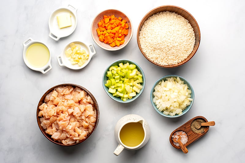 Chicken Broccoli & Rice Ingredients for Instant Pot
