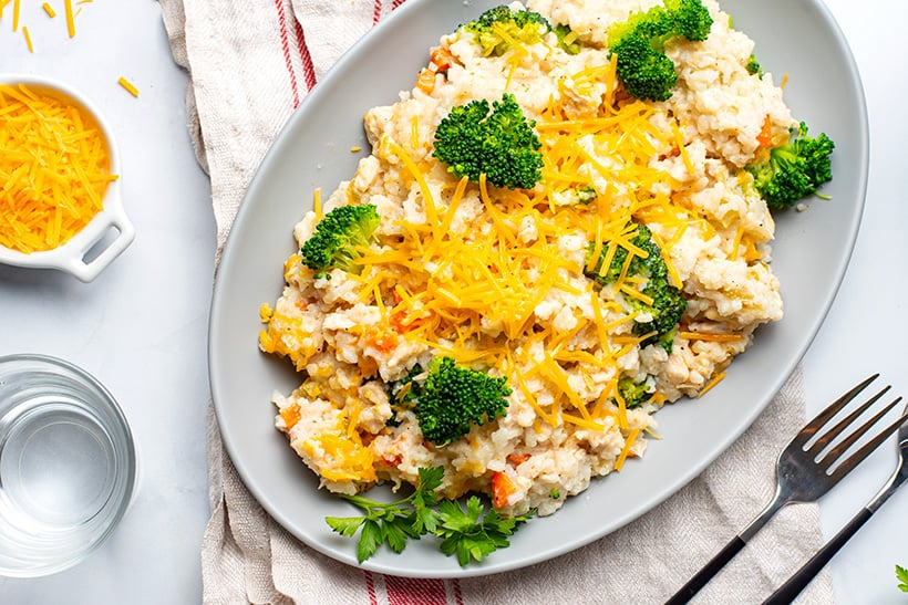 Chicken Broccoli & Rice In The Instant Pot