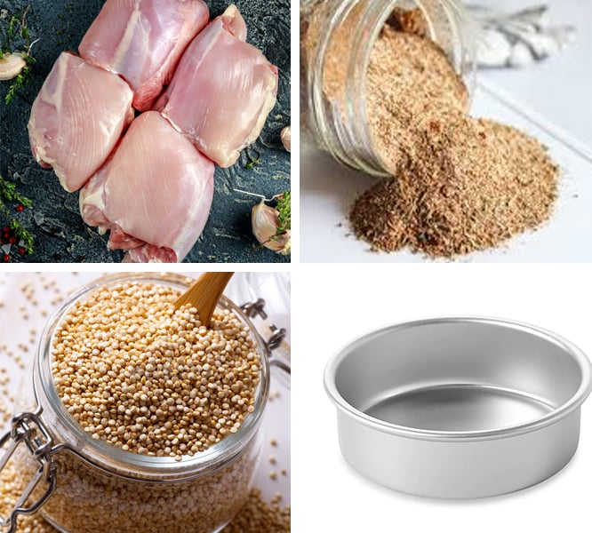 Ingredients you need for Instant Pot jerk chicken and quinoa dish