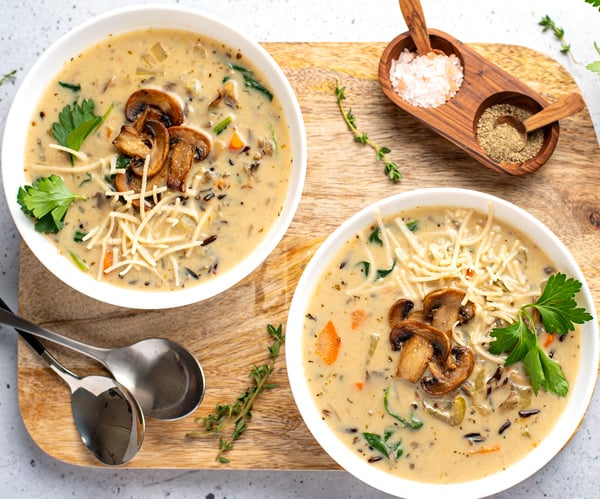 Mushroom & Wild Rice Soup In The Instant Pot (Step-By-Step)