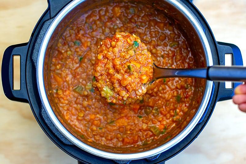 Instant Pot Lentil Stew (Veggie-Loaded , Step-By-Step)