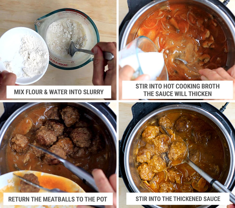 Making onion and mushroom gravy for Salisbury meatballs in Instant Pot