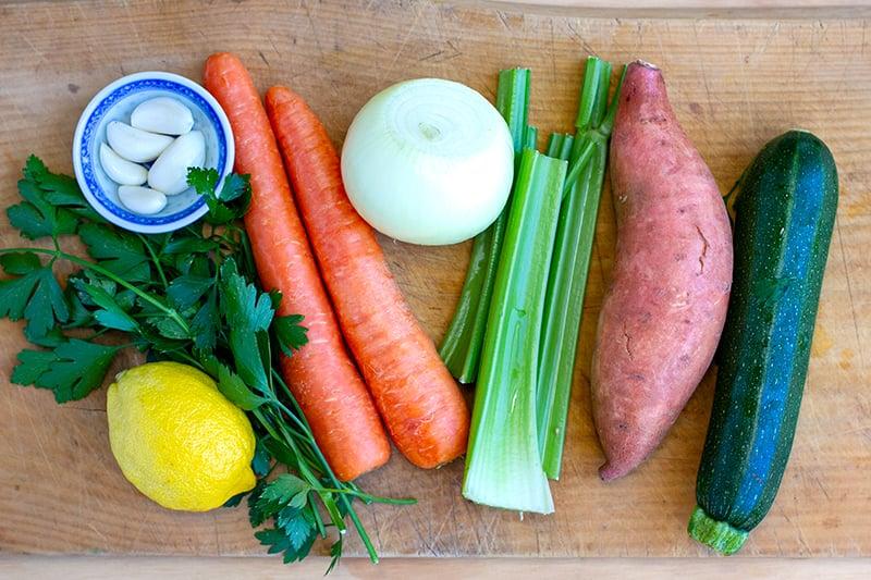 Vegetable for Instant Pot Lentil Stew