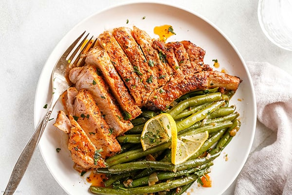Instant Pot Pork Chops with Green Beans
