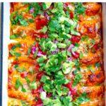 Instant Pot Chipotle Chicken Enchiladas