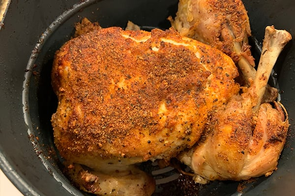 INSTANT POT WHOLE CHICKEN IN THE DUO CRISP