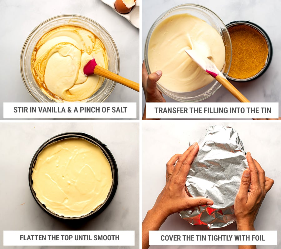 How to make Instant Pot cheesecake step 3