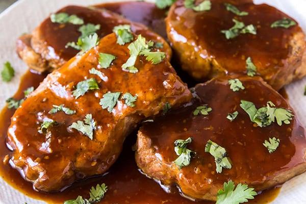 Instant Pot Pork Chops with Honey Garlic Sauce