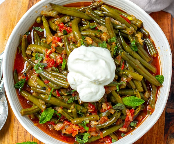 Instant Pot Braised Green Beans Turkish-Style