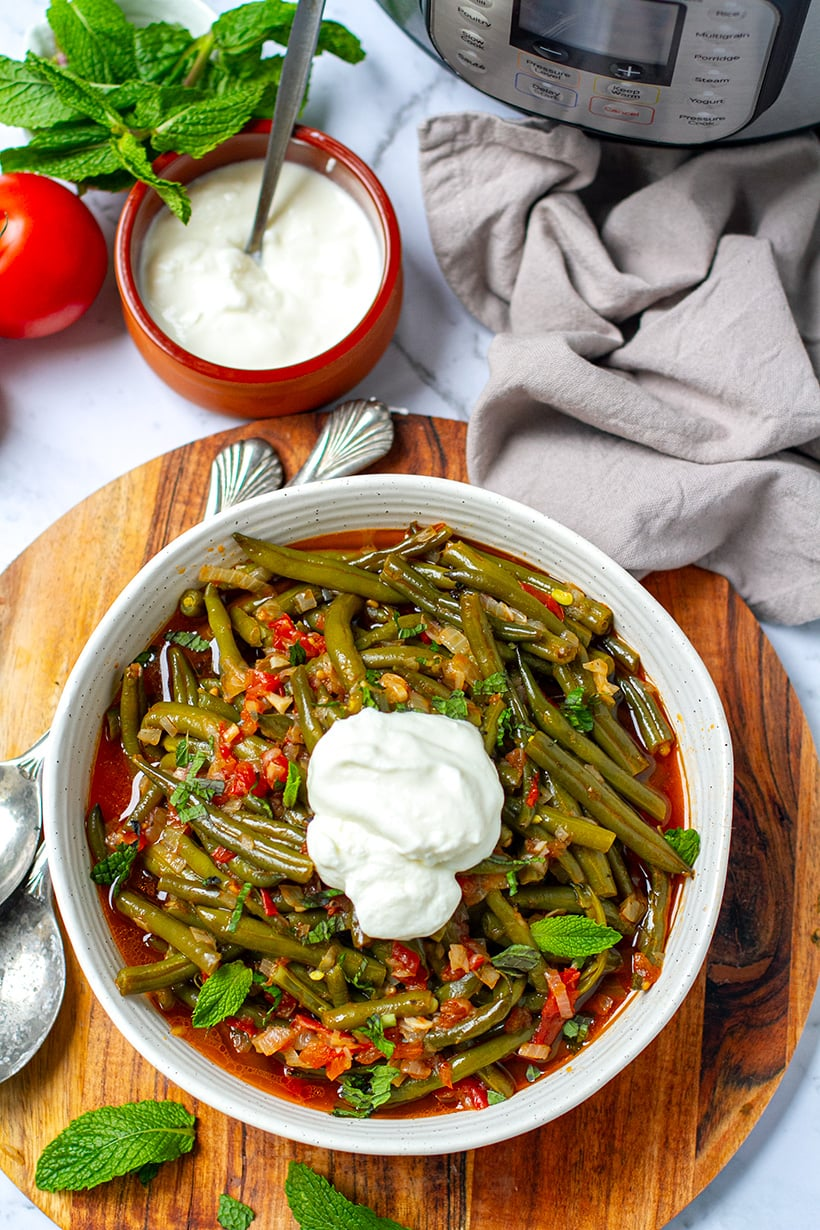 Instant Pot Turkish Braised Green Beans
