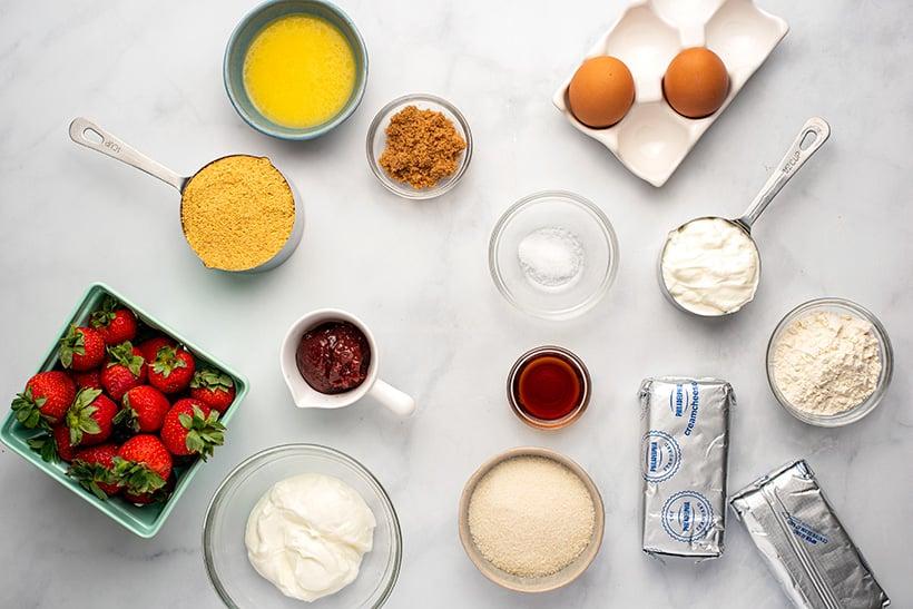 Instant Pot cheesecake ingredients