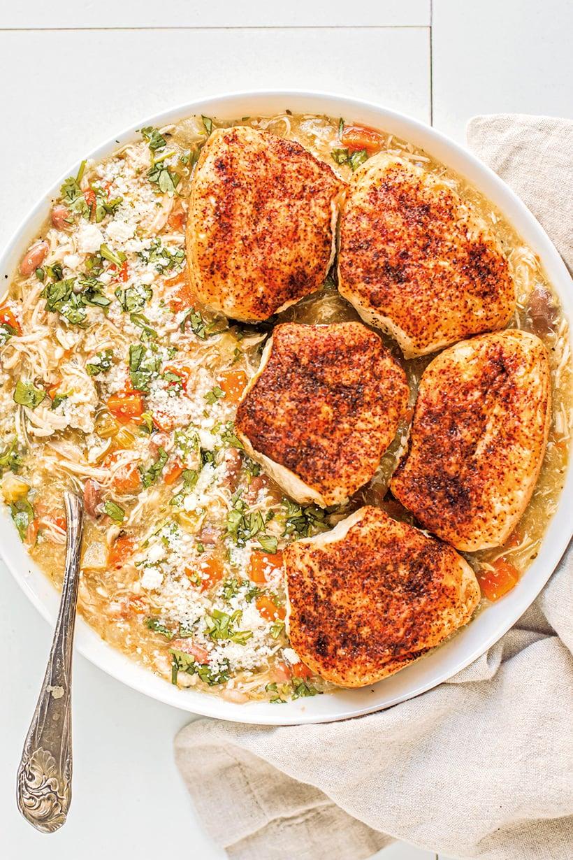 Instant Pot Chicken Verde Pot Pie