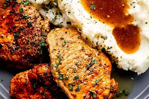 Instant Pot Pork Chops & Gravy