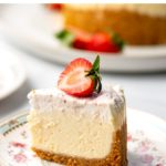 Instant Pot Vanilla Cheesecake With Strawberry Topping